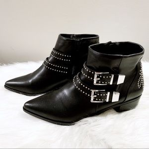 Express Studded Buckle Zip Up Ankle Boots Size 9